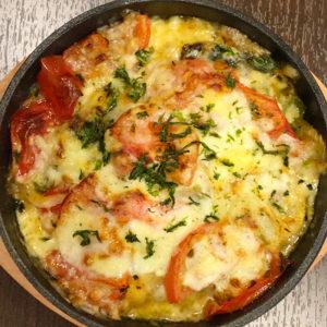 いなりのいっせい イワシとトマトのチーズ焼き